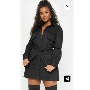 Black Utility Dress- NEW